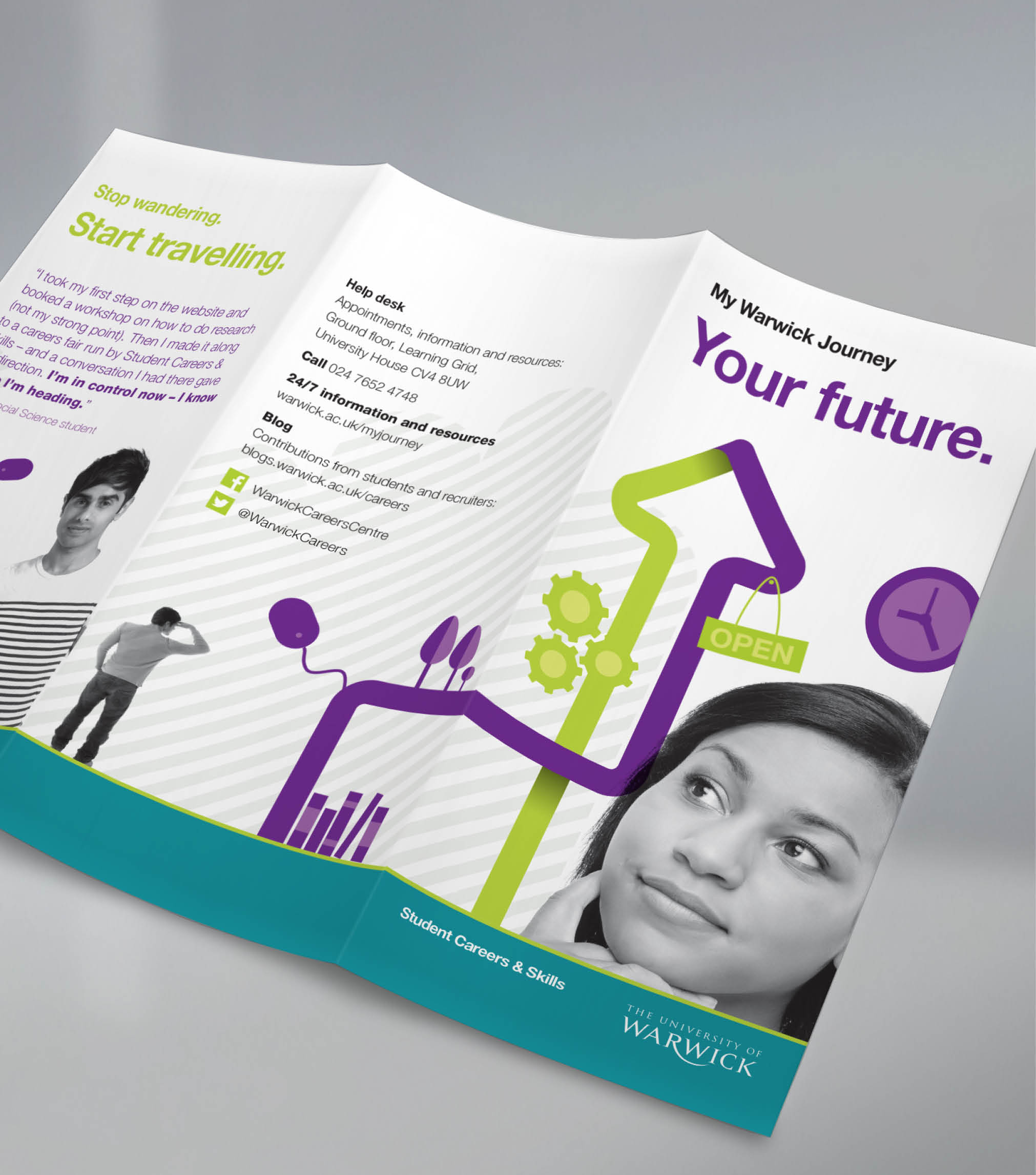 University of Warwick brand collateral for 'My Warwick Journey'