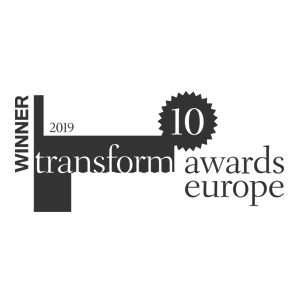 Winner logo: Transform Awards Europe 2019 – IE Brand with Sexwise FPA (Gold) and Agrifood Training Partnership (Silver)