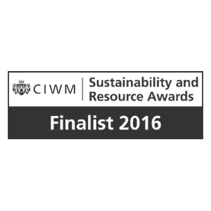 CIWM (Chartered Institution of Wastes Management) Sustainability and Resource Awards 2016 – IE shortlisted with WRAP Love Your Clothes