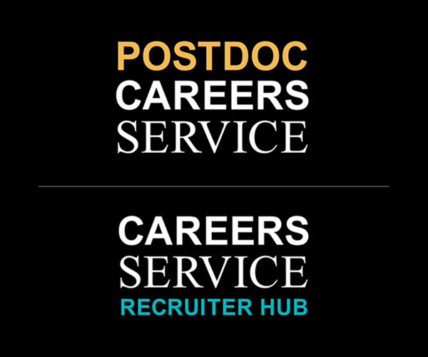 Alternative Careers Service namestyles for Postdocs and Recruiter Hub