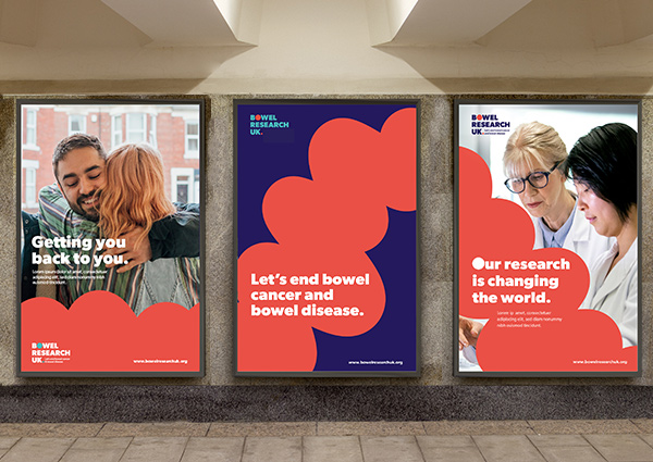 Bowel Research UK branded posters