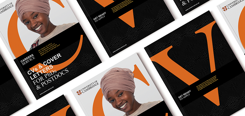 University of Cambridge careers service brand on key publications