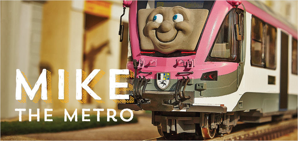 Image of Mike the Metro character from Network West Midlands Commuterland films