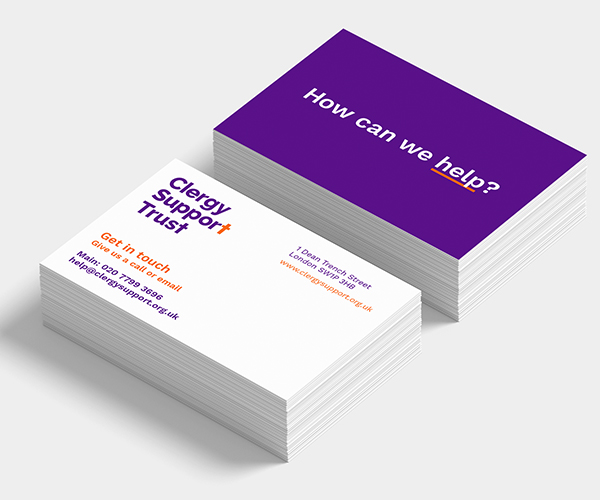 Clergy Support Trust branded business cards