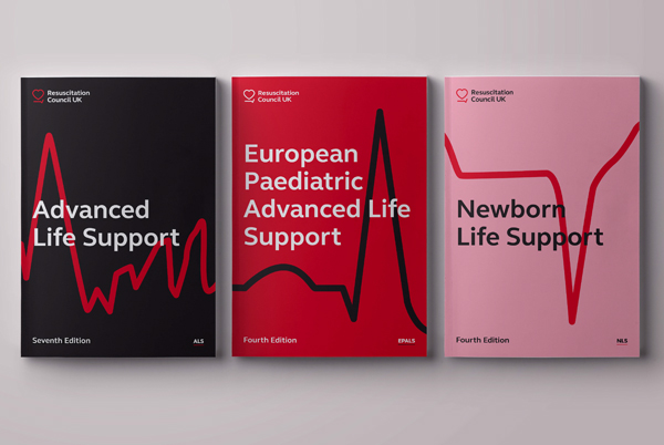 Resuscitation Council UK branding shown on a range of booklets