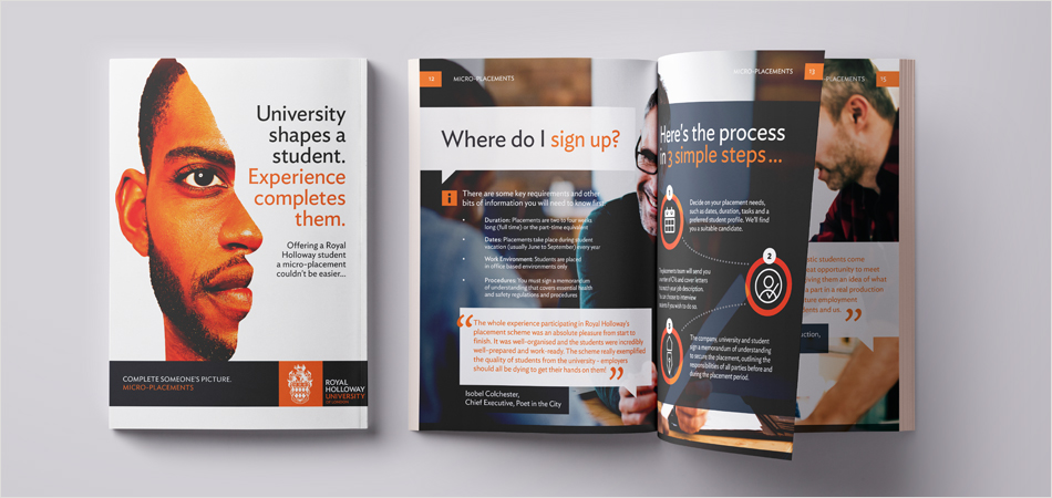 Royal Holloway, University of London careers micro-placements brochure