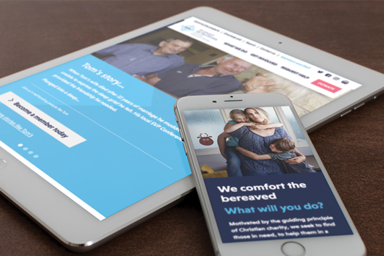New website for charity SVP puts real stories front and centre