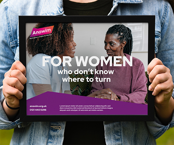For Women who don't know where to turn poster mock-up for Anawim
