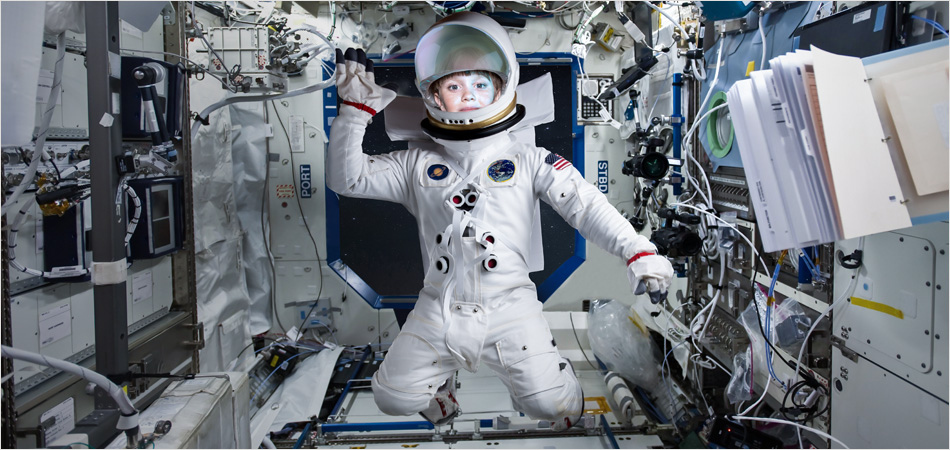 "Young girl as an astronaut – Teach First ""Challenge the Impossible"" campaign by IE Brand"