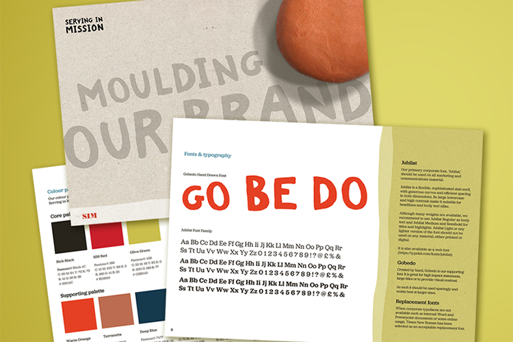 New Serving in Mission brand guidelines by IE Brand