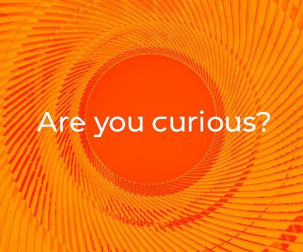 """Are you curious?"" duotone photo graphic - Royal Academy of Engineering"