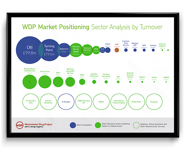 WDP brand consultancy work - market positioning sector analysis by turnover