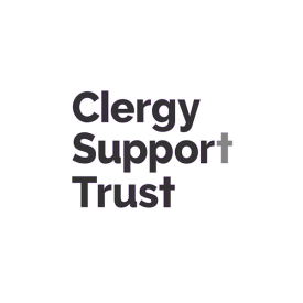 Clergy Support Trust logo in grey