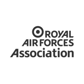 logo of Royal Air Forces Association in grey