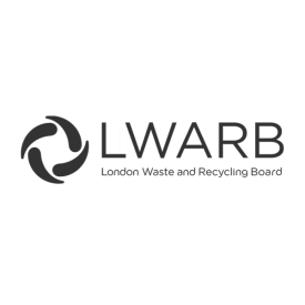 London Waste and Recycling Board (LWARB) logo (in grey)
