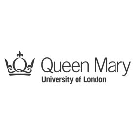 Queen Mary University of London logo (in grey)