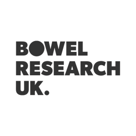 Bowel Research UK logo in grey, by IE Brand