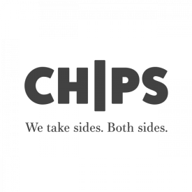 CHIPS charity logo design (grey) by IE Brand
