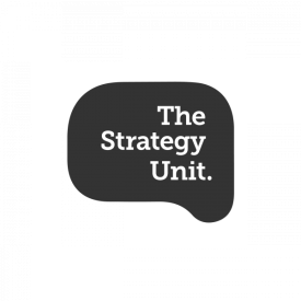 The Strategy Unit logo (grey) – by IE Brand