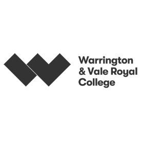 Warrington & Vale Royal College logo by IE Brand (grey)
