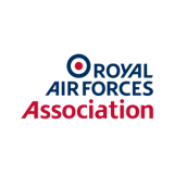 logo of Royal Air Forces Association in blue and red