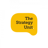 The Strategy Unit logo – black on yellow – by IE Brand